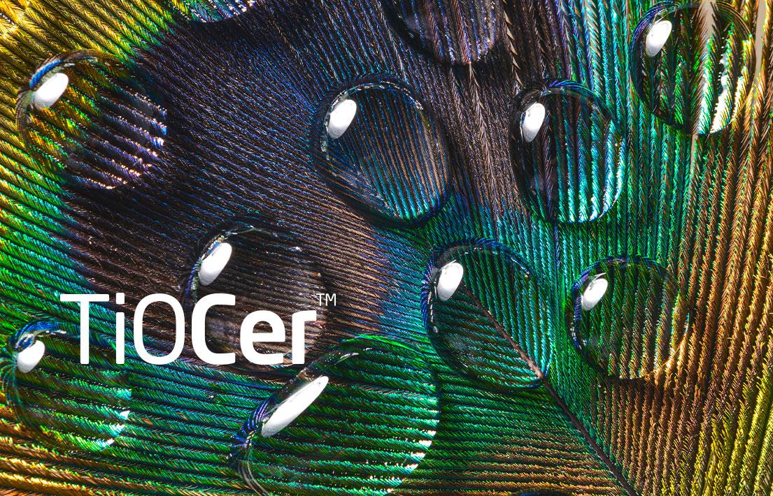 Wasserabweisende und beschichtete Coating-Produkte aus Biomaterialien | TiOCer | BioCer
